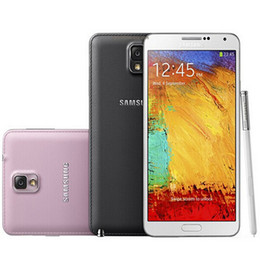 Wholesale Dhl Free 32gb - Refurbished Original Samsung Galaxy Note 3 N9005 N900A N900V N900T N900P 5.7 inch Quad Core 3GB RAM 32GB ROM 13MP 4G LTE Phone Free DHL 1pcs