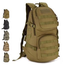 Wholesale waterproof canvas rucksack - 2017 Waterproof Laptop Backpack Multi Solid 3D Military Assault Backpack Rucksack Bag 35L for Camp Travel Hike