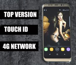 Wholesale Memory 64g - DHL Shipping Goophone S8 Edge S8 Plus Real Fingerprint 4g Lte Octa Core 6.2 Inch Full Screen 1920x1080 4GB RAM 64GB ROM Add 64G Memory Card