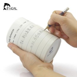 Wholesale Coffee Cupping Spoon - Wholesale- Personalized Multifunction Schedule Mug Replace Notepad Writable Cup Memo Writing Ceramic Coffee Mug Weekly Daily Available
