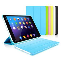 Al por mayor- Para Xiaomi MiPad 2 cubierta de la caja de la tableta elegante de la PU de cuero ultra delgado caso de soporte plegable para Xiaomi Mi Pad 2 Coque Funda 7.9 pulgadas desde fabricantes