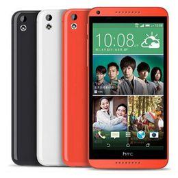Wholesale Dual Sim Android Mobiles - Refurbished Original HTC Desire 816 Dual SIM 5.5 inch Quad Core 1.5GB RAM 8GB ROM 13MP Camera 3G Unlocked Android Smart Mobile Phone DHL 5pc
