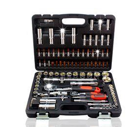 Wholesale Car Spanner Tool Set - 94pcs Socket Set Drive Ratchet Wrench Spanner Multifunctional Combination Household Tool Kit Car Repair Tools Set 20170107# 20170110