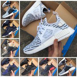 buy online 47a9b d5ebc 2017 Neuer Zebra NMD XR1 PK Läufer Primeknit dreifach schwarz blau weiß grau  Sneakers Herren Damen Mesh beige Sport Laufschuhe US 5-11 beige läufer ...