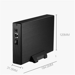 "Wholesale Hdd Play - Wholesale- 3.5""Inch SATA HDD Enclosure External USB3.0 HDD Cover Case Hard Drive Disk Storage Max up to 4TB Supports plug-play Aluminium"