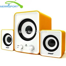 Wholesale Home Stereo Speaker System - Wholesale- Subwoofer 2.1 Speaker Sound System PC Home Desktop Audio Stereo Speaker For Alienware, Lenovo & More Laptop   Desktop Computers