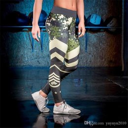 Wholesale Corduroy Pants For Women - Camouflage striped print fitness legging pants female clothes athleisure push up elastic leggings for women harajuku jeggings MTL170811