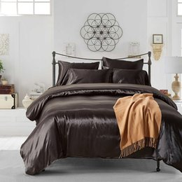 Wholesale Hotel Duvet Covers - Hotel Quality 3pc Soft Silky Satin Solid Color Deep Pocket Sheet Set (Queen Full Size)