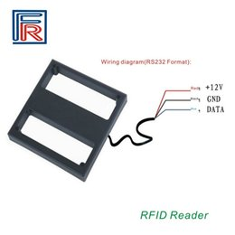 Wholesale Rfid Chips - High quality 1m middle range rfid reader proximity 125Khz reader with RS232 interface for EM4100 chip cards