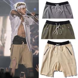 Wholesale Plus Size Harem Shorts - Wholesale- summer korean hiphop fashion sweat jogger Olive Green Khaki Loose Cotton harem Man Shorts camouflage Elastic Waist shorts
