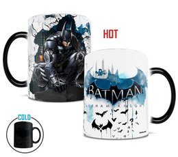 Wholesale Man Change - batman mugs bat man mug morphing coffee mug disappearing mugs printed transforming novelty heat changing color porcelain cups