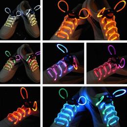Wholesale Wholesale Glow Sticks Accessories - 30pcs(15 pairs) 2017Fashion LED Shoelaces Shoe Laces Flash Light Up Glow Stick Strap Flat Shoelaces Disco Party Shoes Accessories HG23