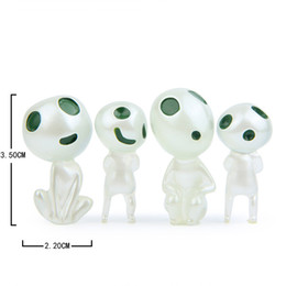 Wholesale Princess Mononoke - New Arrival 4pcs set Luminous Tree Elves Toy Miyazaki Cartoon Princess Mononoke Action Figure Toys Kids Gifts Wholesale