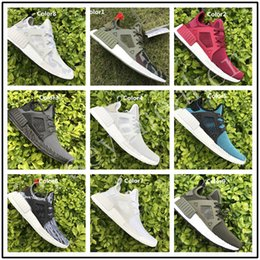 Wholesale Cheap Adult Shoes - BEST 2017 NMD XR1 Glitch Black White Blue Camo Olive Adult And Kids Running Shoes Sports Sneaker Cheap Online For Sale