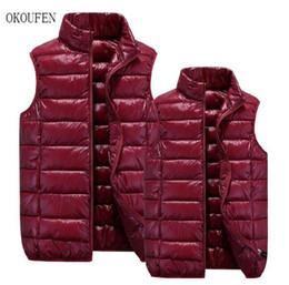 Wholesale Men Warm Vest - Wholesale- OKOUFEN brand clothing Winter chaleco hombre Fashion down vest casual Slim mens warm vestM-4XL