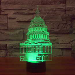 Wholesale Unique Study - 3D Visualization for Home Decor USB Powered 7 Colors Amazing Optical Illusion Glow White House Unique Lighting Effects Art Lights Desk lamp