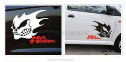 Wholesale Car stickers Ghosts Ghost Rider Skull and crossbones stickers Locomotive body decals Reflective film carved car stickers