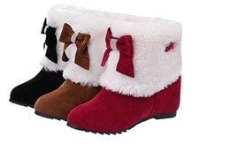 Wholesale Korean Red Tube - 2017 autumn and winter snow boots female short tube plus velvet thick flat with warm students anti-skid cotton boots Korean boots women size