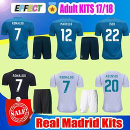 Wholesale Uniform Soccer Jerseys - 2018 Real Madrid Home Third Soccer Jersey Adult KIT 17 18 Away ISCO shirt Ronaldo Bale Football uniforms Asensio SERGIO MODRIC RAMOS Shirts