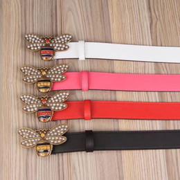 Wholesale Belt Woman H - new men Little bee button belts High quality leather designer ceintuur genuine LMG belt for men women h belts