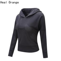 Wholesale Hoodie Lady Style Jacket - Hot Sale-Heal Orange Ladies Running Jacket Hoodie Women Excercise Clothing Running Jacket For Women Gym Jacket Outdoor Short Style Coat