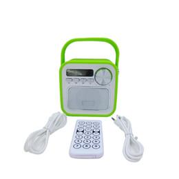 Wholesale Retro Wireless Phone - Retro Mini Wireless Bluetooth Speaker Radio Portable Speaker Stereo Sound Music Receiver for Mobile Phone