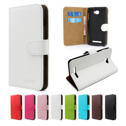 Wholesale Leather Shell Pouches - ZTE Zmax Pro Z981 PU Leather Case Hard Armor Cover Superior Plastic Shell protective sleeve With Card Slots Wallet White ZTE Pro 981