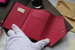 Wholesale Fresh Covers - 2016 hot selling classic brand women's handbag high quality leather letter printed wallet candy color luxury bag 41938