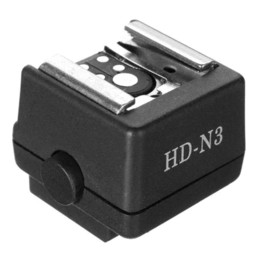 Wholesale Dslr Shoe - HD-N3 Hot Shoe Adapter High-quality Flash Hot Shoe PC Sync Socket Adapter for Sony for Minolta DSLR Camera