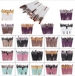 Wholesale Multi Hair Colors - Hot Professional 22 Colors Makeup Brushes Set Cosmetic Face Eyeshadow Brushes Tools Makeup Kit Eyebrow Lip Brush 20pcs set DHL free