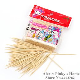 Wholesale Cleaning Tools For Teeth - Wholesale- 480 pcs set Bamboo Toothpick Double Fine Toothpicks Tandenstoker Dental Tools For Cleaning Teeth