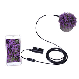 Wholesale Industrial Lens - New pc android and IOS wireless waterproof endoscope camera 2 in 1 8 mm lens 6 led Sensor 720P Cable 1M 2M 3.5M 5M 10M for sale
