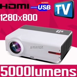 Wholesale High Definition Games - Wholesale- High definition Home Theater Cinema 1080P TV Video Digital HDMI USB LCD Video fuLL HD LED Projector for family pc game