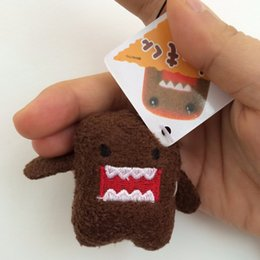 Wholesale Mini Domo Plush - 1PCS 5cm Mini Domo kun Plush Toys Kawaii Domo-kun Stuffed Toys Doll Domokun Phone Pendant Wedding Birthday Gift