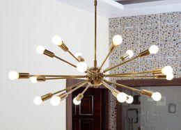 Wholesale Pipe Polish - New Modern Detail Classic Mid Century Modern Pendant Lamp polished Brass Sputnik atomic chandelier star Free Shipping