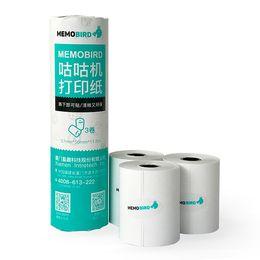 Wholesale Photo Label Paper - Memobird 3rolls lot Adhesive Thermal Label Paper Thermal Photo Printing Paper 57*50mm Label Paper for Photo Printer G1 G2