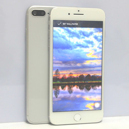"Wholesale Metal Quad - Goophone i8 Plus Goophone i7 Plus 3G WCDMA Cell Phones Quad Core MTK6580 Android 6.0 1GB 12GB 5.5""HD 1280*720 8MP Metal Unlocked Smartphone"
