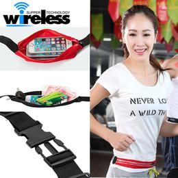 Wholesale Universal Personal - Waist Bag Double Pocket Bag Waterproof Phone Belt Personal Purse Waist Pack Man  Women Unisex High Qualityt Fashion Casual Bag