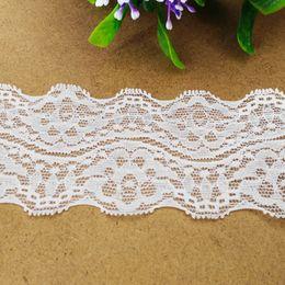 Wholesale White Lace Trim Fabric - 6.2cm 15 yds lot Width Lace Trim (EL007)Eyelet Decoration Lace trims for costume wedding decor crafts