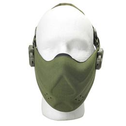 Schutzmaske militär online-Outdoor-Jagd-Schutzausrüstung halbe Gesichtsmaske Tactical Radfahren Breathable Face Shield Military Detective Sicherheit Leichtbau-Schutz