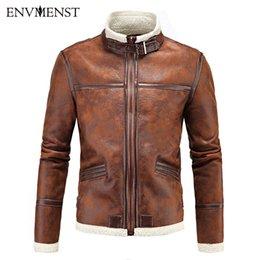 Wholesale Resident Evil Leon Jacket Leather - Wholesale- Envmenst 2017 Resident Evil 4 Leon Costume Leather Coat Jackets for men Cosplay PU Faur Jacket Long-sleeve Winter Outerwear Coat