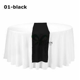Wholesale Cheap Cloth Table Runners - 20pcs Satin Table Runner \ Cheap Price Wedding Table Cloth Runner Decoration