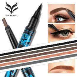Eyeliner stylo à sourcils double extrémité 5 types pour choisir stylo à sourcils imperméable + Eyeliner 5 couleurs Eye sourcil noir Eyeliner Pencil DHL shipping ? partir de fabricateur