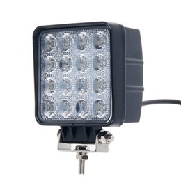 Wholesale Led Driving Lights For Boats - 2pcs 4 Inch 48W LED Work Light for Indicators Motorcycle Driving Offroad Boat Car Tractor Truck 4x4 SUV ATV Flood 12V 24V