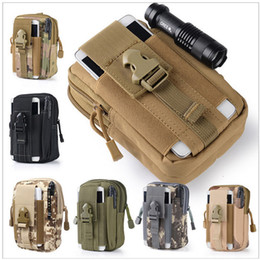 Wholesale hockey phone cases - Hot Camping Climbing Bag Outdoor Tactical Molle Hip Waist Belt Wallet Pouch Purse Phone Case for IPhone waist pocket M212