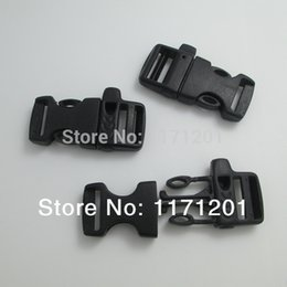 Wholesale Side Release Buckles Whistle Wholesale - buckle paracord 100pcs lot 16mm Webbing Bag Plastic Whistle Side Release Buckles Paracord Buckles,48*21mm pc free shipping