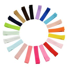 Wholesale Hairclip Hairpin - Small Cute Solid Baby Girls Hairclip DIY Clips Whole Wrapped Safety Hair Clips Kids for Toddler Hairpins Hair Accessory KFJ107