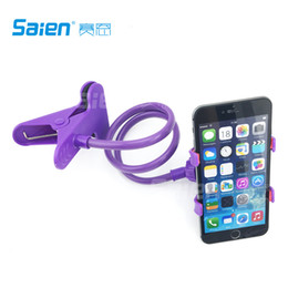 Wholesale Holders Stands Stents - Universal Long Arm Lazy Mobile Phone Gooseneck Stand Holder Stents Flexible Bed Desk Table Clip Bracket Cradle for iphone Smasung etc.