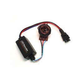 Wholesale Error Decoder Canceller - DC12V 3157B Turn Signal Socket Warning Error Canceller Error Free Load Resistor LED Decoder #2266