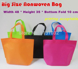 Wholesale Nice Shops - Nice-68 * 25 * 11 Cm Big Size Good Quality 5 Colors Plain Dyed Ultrasonic Nonwoven Bags Non Woven Shopping Bags